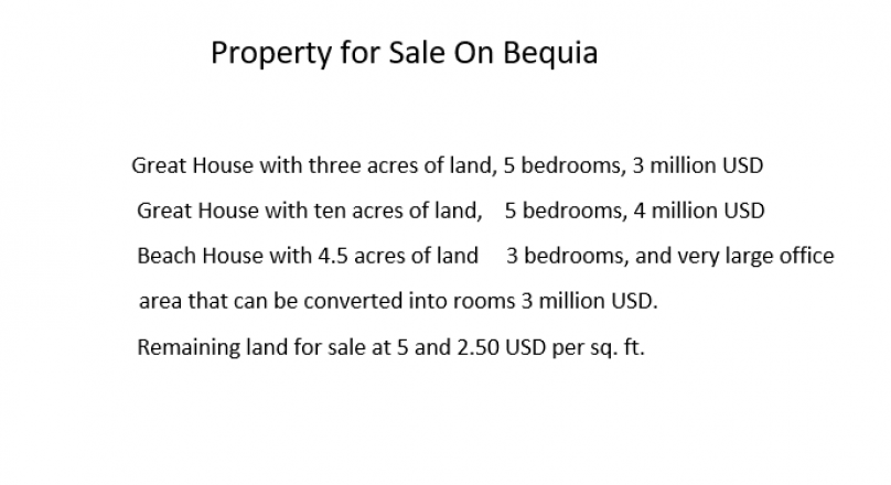 Property for Sale On Bequia Emmett
